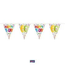 Folat - Vlaggenlijn - Rainbow dots - Happy Bday 60 - 10m