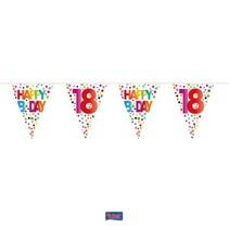 Folat - Vlaggenlijn - Rainbow dots - Happy Bday 18 - 10m