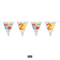 Folat - Vlaggenlijn - Rainbow dots - Happy Bday 25 - 10m