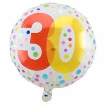 Folat - Folieballon - Rainbow dots - 30 - 45cm
