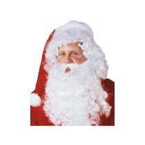 Witbaard - Kerstman baardstel - F - Wit - 2dlg.