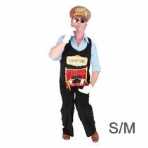 *PartyXplosion - Kostuum - Tuinbroek - Showtime - Incl. pet - S/M