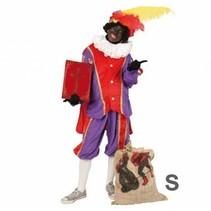 PartyXplosion - Kostuum - Zwarte piet - Paars/rood - S