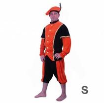 PartyXplosion - Kostuum - Zwarte piet - Oranje/zwart - S