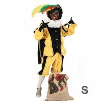 PartyXplosion - Kostuum - Zwarte piet - Zwart/geel - S