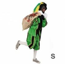 PartyXplosion - Kostuum - Zwarte piet - Zwart/groen - S
