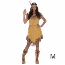 Partychimp - Kostuum - Indianenjurk - Geel - M