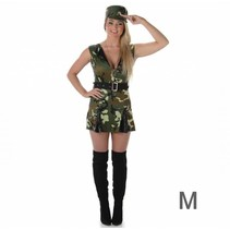 Partychimp - Kostuum - Legervrouw - M