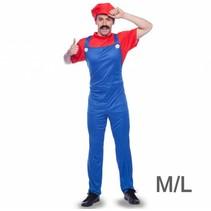 Folat - Kostuum - Loodgieter Mario - mt. M/L