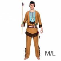 Witbaard - Kostuum - Indiaan - Blauw - Luxe - M/L