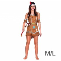 Witbaard - Kostuum - Jurk - Indiaanse - Luxe - M/L