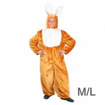 PartyXplosion - Kostuum - Haas - Pluche - Bruin/wit - mt M/L