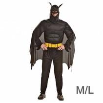 Partychimp - Kostuum - Batman - Gespierd - M/L
