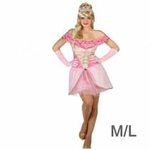 Partychimp - Kostuum - Prinses - Roze - M/L