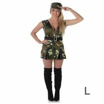 Partychimp - Kostuum - Legervrouw - L