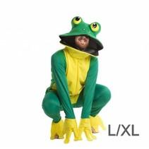 PartyXplosion - Kostuum - Kikker - Luxe - Groen/geel - L/XL