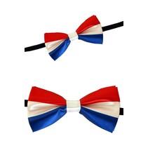 PartyXplosion - Strik - Satijn - Rood/wit/blauw - 12x6.5cm