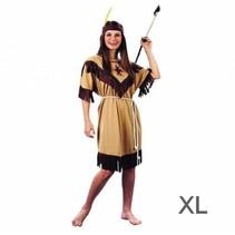 Witbaard - Kostuum - Jurk - Indiaanse - XL