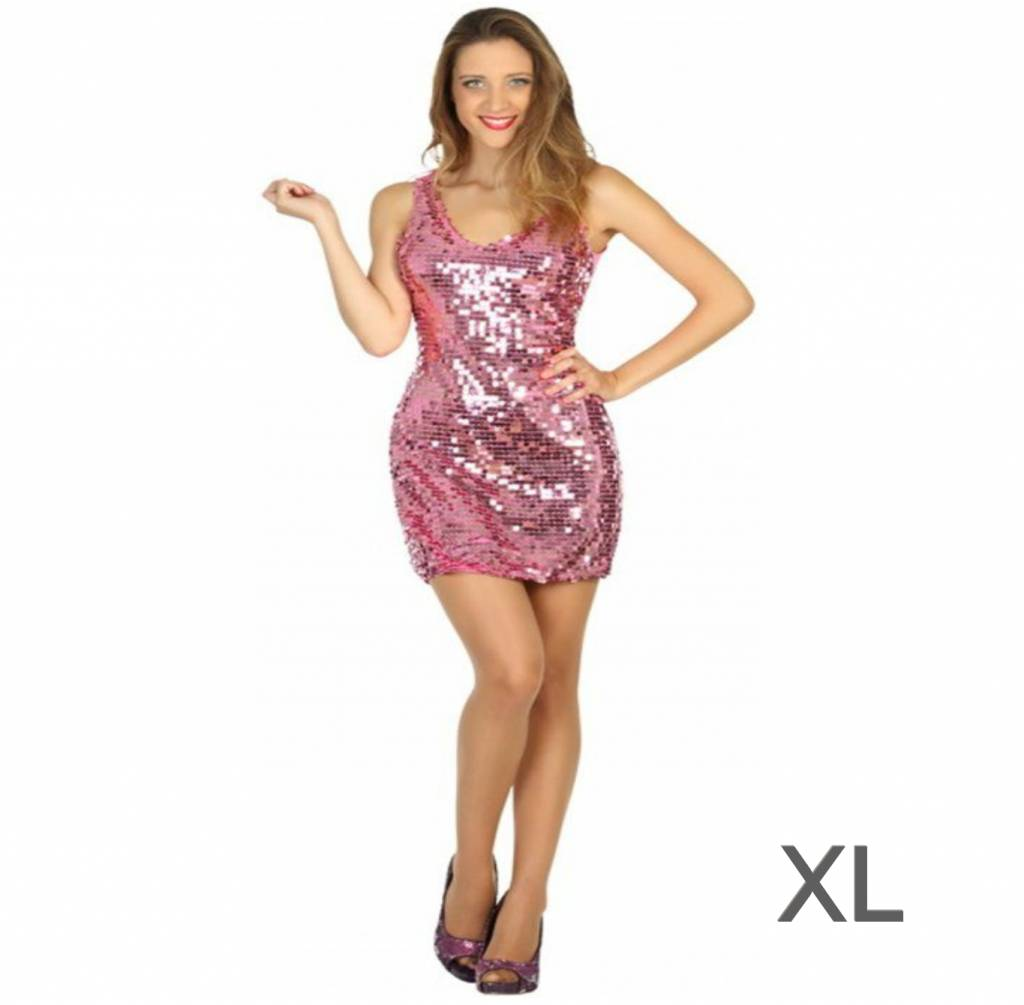 roze party jurk