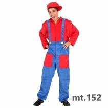 PartyXplosion - Kostuum - Super Mario - Incl. pet - mt.152