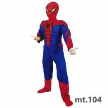 PartyXplosion - Kostuum - Spiderman - mt.104