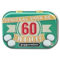 Paperdreams - Retro mints - 60 Jarige