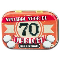 Paperdreams - Retro mints - 70 Jarige