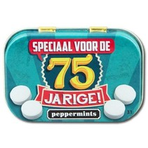 Paperdreams - Retro mints - 75 Jarige