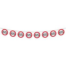 Folat - Verkeersbord slinger - 65 jaar - 12 mtr