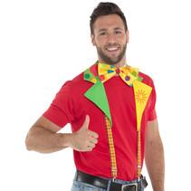 Folat - Clown set - Bretels - Met kraag & losse strik