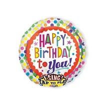 Amscan - Folieballon - Happy Birthday - Dots - Met muziek - Zonder vulling - 71cm