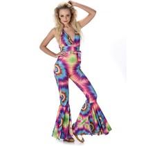 Partychimp - Kostuum - Hippie - Dames - L