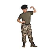 Partychimp - Kostuum - Soldaat - Gespierd - mt.116