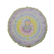 Anagram - Folieballon - Congratulations - Bloem met bij - Zonder vulling - 43cm