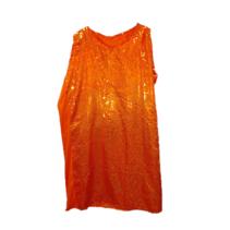 Bladwijzer - Kostuum - Jurk - Pailletten - Oranje - M/L