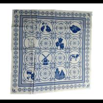 Bladwijzer - Zakdoek - Hollandse iconen - Delftsblauw