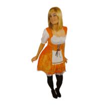 Folat - Jurk - Oktoberfest - Oranje - XXL