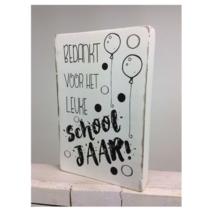 Cotton Counts - Decoratie - Bedankt voor het leuke schooljaar! - 10x15cm