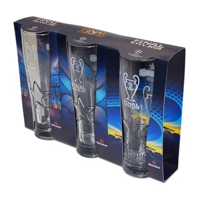 Heineken UEFA Champions League Beer Glass Set with Logos