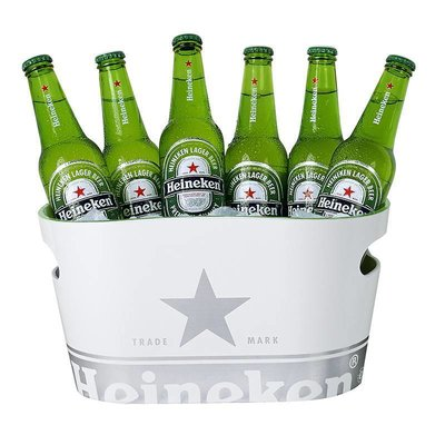 Heineken Single Walled Heineken Ice Bucket White