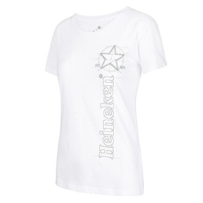 Heineken White Graphic logo T-Shirt Women