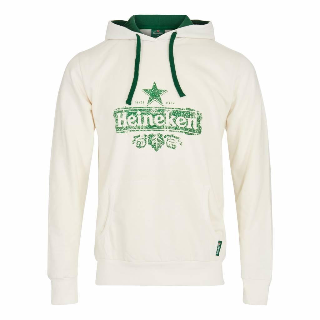 Heineken HOODED SWEATER ORGANIC COTTON WHITE MEN