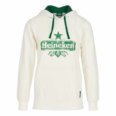 Heineken HOODED SWEATER ORGANIC COTTON WHITE WOMEN
