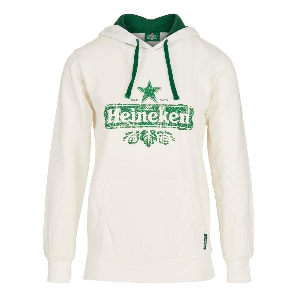 Heineken HOODED SWEATER ORGANIC COTTON WHITE WOMEN