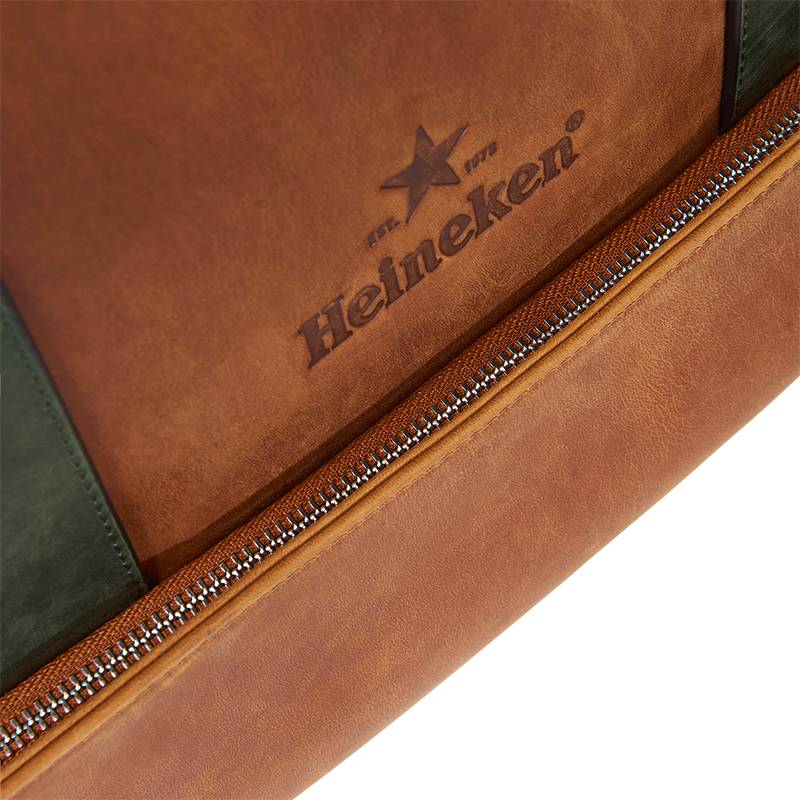 Heineken Retro leather laptop bag