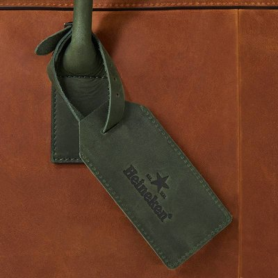 Heineken Retro  leather luggage tag