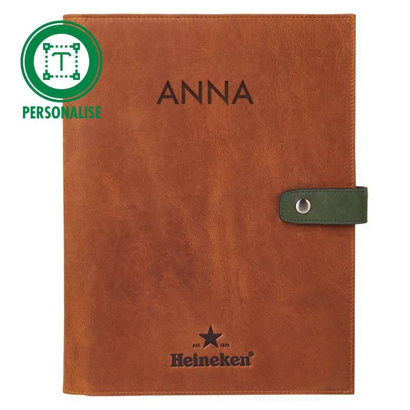 Heineken Retro  leather writing folder