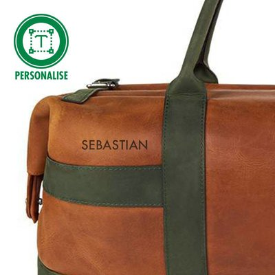 Heineken Retro  leather travel bag