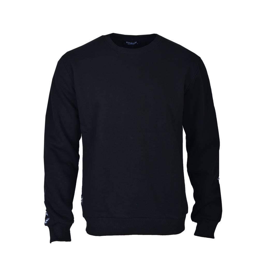 Picaldi Sweatshirt mit Armdetail - Schwarz