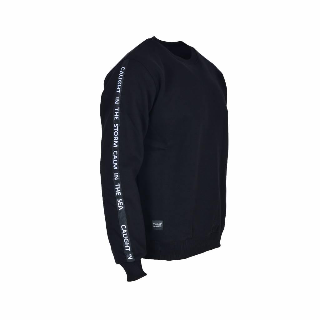 Sweatshirt mit Armdetail - Schwarz